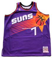 Wholesale top purple basketball jerseys for sale - Group buy Kevin Johnson Sewn Mitchell Ness Purple Jersey XL Mens Vest Top Size XS XL Stitched basketball Jerseys Ncaa