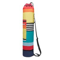 buzlu su şişeleri toptan satış-8 renk! Yoga Minderi Çantası Ayarlanabilir Askı, Su Şişesi Taşıyıcı, İç Dış Cepler - Çoğu Yoga Minderi Boyutlarına uyar