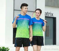 Wholesale athletic training clothing resale online - Mens Women Tennis Shirts Badminton T Shirts Breathable Table Tennis Jerseys Clothing Sports Athletic Training T Shirt Quick Dry