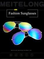 ingrosso occhiali da sole obiettivo polarizzato riflettente-L'alta qualità polarizzati lente pilota Occhiali da sole per uomo e donna Occhiali da sole di guida vetri riflettenti Rivestimenti per esterni unisex JJ19897
