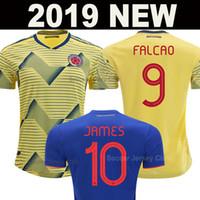camiseta de fútbol sanchez al por mayor-Camiseta de fútbol de Colombia 2019 2020 cop america JAMES Rodriguez FALCAO CUADRADO Sánchez VALDERRAMA soccer jersey football shirt camisetas de fútbol de calidad de Tailandia