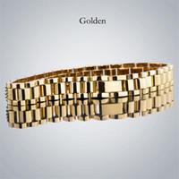 hochwertiges goldarmband großhandel-Herren Designer Armbänder Mit hochwertigem Edelstahl Iced Out Armband Luxus Designer Bracciali für Damen Drop Shipping