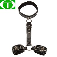 Wholesale adult toys slave collar for sale - Group buy Bdsm Bondage Restraint Women Collar With Handcuffs Slave Fetish Bondage Set Gear Erotic Toys Sex Toys For Couples Adult Game