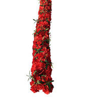 Wholesale arch decorations resale online - 2m artificial flower row runner decor party wedding backdrop iron arch stand road lead rose peony fake flowers for decoration