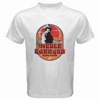 logo música venda por atacado-Novo Merle Haggard Country Music Tour Logotipo dos homens T-Shirt Branca Fresco xxxtentacion marcus e martinus discout frete grátis t-shirt