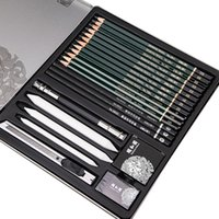 ingrosso matite di carbone d'arte-Deli Sketching Art Set Profesional Schizzo Carboncino Matite Arte Pittura Disegno Matita Cinese Estate Rifornimenti d'arte per il palazzo T8190617