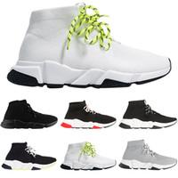 ingrosso donne calde delle scarpe da ginnastica della piattaforma-Balenciaga Vendita calda Moda uomo lusso donna scarpe calzino stringato nero bianco rosso piattaforma piatta designer uomo sneakers Speed Trainers sneakers casual