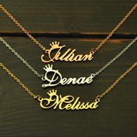 ingrosso collana della lega della lega-Collana personalizzata, collana con nome, collana con nome personalizzato, gioielli con targhetta personalizzata, collana in lega