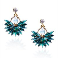 Wholesale fashion bijoux for sale - New Women s Fashion Crystal Stud Earring Brand Sweet Christmas Party Rhinestone Ear Stud for Women Girl Brincos Bijoux