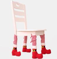 ingrosso copri spandex per tavoli-Sedia di Natale del piede dei calzini gambe del tavolo di copertura Stocking di Santa Boots decorazioni Hotel Restaurant Bar Stool Tabella Chair Covers GGA2826