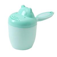 baile oyuncakları toptan satış-Çocuklar Şampuan Aracı Bailer Yenidoğan Duş Sevimli Karikatür Çocuk Banyo Fincan Kaşık Kaşık Bebek Bakımı Oyuncak Taşınabilir Yıkama Saç