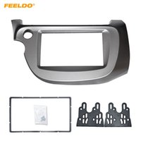 Wholesale dvd for car installation online - FEELDO Car DVD CD Radio Stereo Fascia Panel Frame Adaptor Fitting Kit For Honda FIT Jazz LHD Installation Trim Kit
