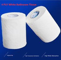 Wholesale roll cleaner resale online - High Quality Ply Rolls White Toilet Paper Bathroom Tissue Home Kitchen Roll Household Clean Napkins Benefit Packs