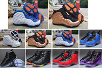 Wholesale athletic shoes for boys for sale - Group buy 2019 New Color Unisex Kids Penny Hardaway Foam One Basketball Shoes Boys Purple Sports Girls Sneakers for Child Children Athletic Teenage
