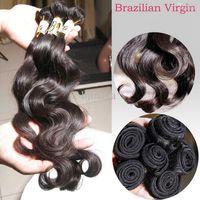 güzellik kraliçeleri saç uzantıları toptan satış-Brezilyalı Virgin Saç Vücut Dalga 3 Paketler Ham İnsan Saç uzantıları Manikür Hizalanmış saç fabrikası Tedarikçi