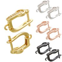 ingrosso ganci orecchini in ottone-ZHUKOU orecchini in cristallo 12x19mm per orecchini fatti a mano fai-da-te accessori per fare gioielli accessori per donna modello: VE91