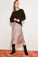 Wholesale mink skirts online - Trendyol Mink Satin Skirt Tofss19wx0013 Y19050602