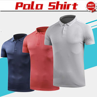 3a2016eb Wholesale quick dry polo shirts men online - 2019 United Pogba Polo Shirt  Red Royal blue