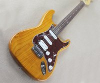 Wholesale electric guitar natural color for sale - Natural Wood Color Electric Guitar with Red Pickguard SSH Pickups Chrome Hardwares offering customized services