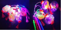 linternas de cumpleaños al por mayor-Resplandor en el juguete oscuro Linternas portátiles Estrella de la bola Bola colorida del resplandor Juguete de los niños Fiesta de cumpleaños Decoración Regalo para la niña