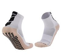 Wholesale hot men sock soccer resale online - Hot Antiskid wear resistant football socks men towel bottom thickened rubber antiskid breathable deodorant sports socks fitness yakuda sport
