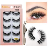 Wholesale lash extensions kits for sale - Group buy Shidishangpin Kit Eyelashes Tweezers Natural d Mink Lashes Hand Made Makeup Long False Eyelash Extension