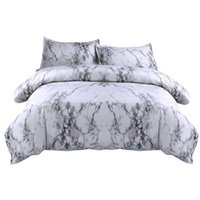 Wholesale black quilt king size for sale - Group buy Sheet Pillowcase Simple Marble Bedding Duvet Cover Set Quilt Cover Twin King Size With Pillow Case Gray Bedding Set New F22