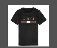 ingrosso gatto stampa moda-2019 Moda Estate Ragazzi ragazze Abbigliamento Bambini Designer T-shirt manica corta Bambini Stampa Cat Shirt Top T-shirt da ragazzo 2-8 anni