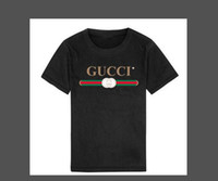 yıllık kızlar için en iyi şort toptan satış-2019 Moda Yaz Erkek kız Giyim Çocuk Tasarımcı Kısa Kollu T-shirt Çocuk Baskı Kedi Gömlek Tops Boy Tees 2-8 T Yıl