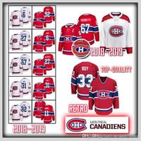 montreal fiyatı toptan satış-31 Carey Price Montreal Canadiens forması Patrick Roy 6 Shea Weber 92 Jonathan Drouin 67 Max Pacioretty 11 Brendan Gallagher hokey Formaları