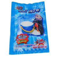 Wholesale fake magic toys resale online - Christmas Artificial Snow Powder Magic Swells in Water Snow Powder Christmas Party Decoration Kids Fun Toys Fake Snow Magic Prop