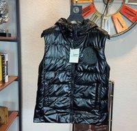 ropa de abrigo con capucha al por mayor-Chaleco hotsale chaqueta para hombre de lujo abajo cubren con capucha Puffer chaleco para hombre Prendas de abrigo rompevientos lujo gruesas chaquetas Ropa B103543L