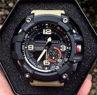 auto relógio do exército venda por atacado-2020 Hot Sale relógio inteligente Homens do Exército Militar impermeável Sports relógios Auto LED Light Moda Relógios Borracha Masculino Relógio GG Estilo 1000 Relógios