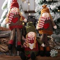 estilo de muñeca rosa al por mayor-Adornos navideños Papá Noel Muñeca de peluche Muñeco de nieve Decoraciones colgantes Para el hogar Árbol de Navidad Adornos colgantes Regalo 28 Estilos