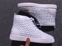 Wholesale red hip hop shoes for sale - Group buy Mutil Spikes Hip Hop Studded Spikes Casual Flats Red Bottom Luxury Shoes For Men And Women Party Designer Sneakers Lovers Genuine Leather
