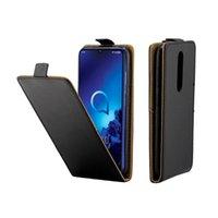 capas giratórias móveis universais venda por atacado-Caso de couro de negócios para alcatel 3 2019 5053y 5053d 5053k tampa flip com slot para cartão de telefone móvel sacos para sony xperia xz4 compact