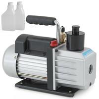 machine d'estampage en laiton achat en gros de-Réfrigérant R410A R134 R134A d'air à CA de la pompe à vide profonde à palettes de la pompe 5CFM 1 / 2HP