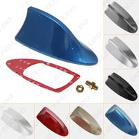 araba çatısı için köpekbalığı yüzgeci toptan satış-Su geçirmez Universal Araç Radyo Anteni Shark Fin Çatı Dekoratif Anten Ile FM / AM Radyo Fonksiyonu 7-Color # 2743