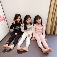 Wholesale embroidery toddler baby boy girl for sale - Group buy Toddler Baby Kid Girl Boy cotton Clothes set Plain Solid Color pajamas set Elegant Sleepwear Nightwear Home wear outfits