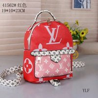 Wholesale rucksacks bag resale online - New Unisex Letters Backpack leather red Designer Student School Bag Travel Sport Shoulder Bags portable laptop bag Rucksack