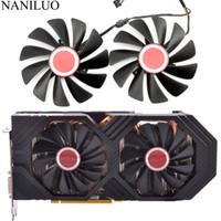 cartes graphiques radeon achat en gros de-95MM FDC10U12S9-C CF1010U12S Remplacer le ventilateur de refroidissement pour le XFX AMD Radeon RX 580 590 RX580, ventilateur de refroidissement de carte graphique