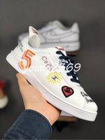 gündelik ayakkabılar koreası toptan satış-19SS Pharrell Williams Graffiti Kore Ace sneaker Düşük Üst Sneakers Erkek Tasarımcı Ayakkabı Moda casual Sneakers Bayan Chaussures Boyutu 36-45
