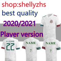 Wholesale sports uniform jerseys resale online - 20 player version Mexico Soccer jerseys away white H LOZANO DOS SANTOS CHICHARITO national team sports football uniform shirts