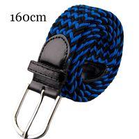 Wholesale braided belt women resale online - 160cm Plus size Elastic Stretch Waist Women Men Belts Canvas Stretch Braided Men Woven Leather Belt Metal Large Size Belt