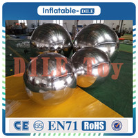Wholesale giant balloons for weddings for sale - Group buy m Party wedding Decoration giant Reflective Inflatable Mirror Balls Balloons advertising inflatable mirror balls for sale