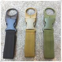 Wholesale water bottle holder belt clip resale online - Key Holder Backpack Hanger Nylon Webbing Buckle Hook Water Bottle Holder Clip EDC Climb Carabiner Clip Belt Backpack Hanger
