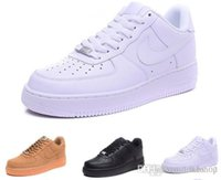 erkekler düşük kesim basketbol ayakkabıları toptan satış-nike air force 1 Flyknit Utility Bir 1 erkek kadın Flyline basketbol Ayakkabıları Spor Kaykay Ayakkabı Yüksek Düşük Kesim Beyaz Siyah Açık Eğitmenler Sneaker boyutu 36-45