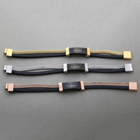 Wholesale box men set resale online - designer bracelet For Men Fashion High end Quality Jewelry Chain Bangle For Ladies Jewelry With Gold Rose Gold Silver color Drop Shipping