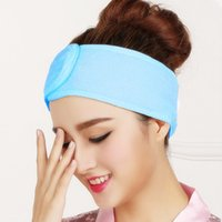 Wholesale shower hair band resale online - 2019 New Pink Spa Bath Shower Make Up Wash Face Cosmetic Headband Hair Band Accessories Sale