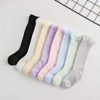 цветные детские летние носки оптовых-Детские носки из сплошного цвета Детские летние сетчатые дышащие полые детские тонкие носки Мягкие детские дизайнерские носки 48